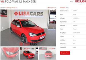 2013 VW Polo Vivo 5 door 1.6 Maxx
