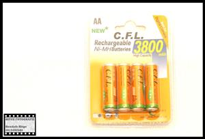 C.F.L. 3800mAh Rechargeable AA Batteries