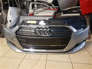 AUDI A3 SEDAN 2016 UP FRONT BUMPER AND GRILL FOR SALE