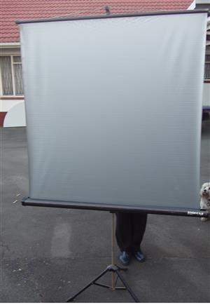 Projector Screen on Stand - 1250 x 1250 mm - non reflective screen