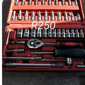 Large socket wrench set