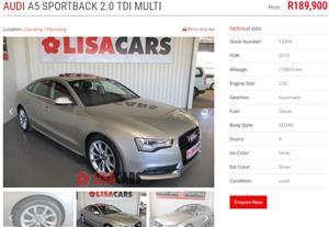 2013 Audi A5 Sportback 2.0TDI