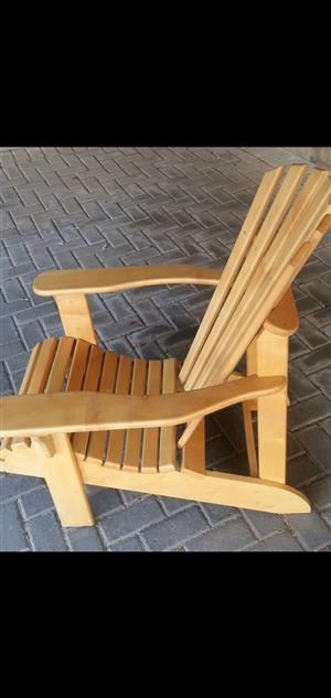 NEW WOODEN DECK CHAIRS