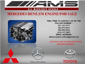 MERCEDES BENZ 270 ENGINE FOR SALE