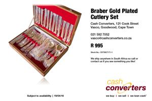 Braber Gold Plated Cutlery Set