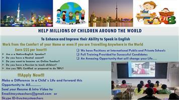 Work from Home!!!Become an Online English Teacher!!!