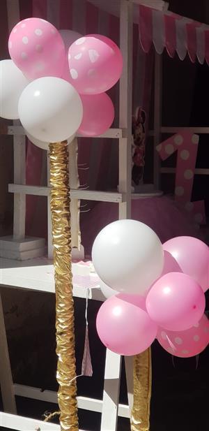 Balloon Pillars to hire  Save on helium