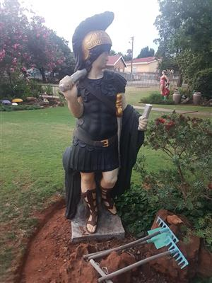Viking warrior garden sculpture for sale