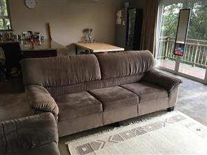 3 piece suede lounge suite