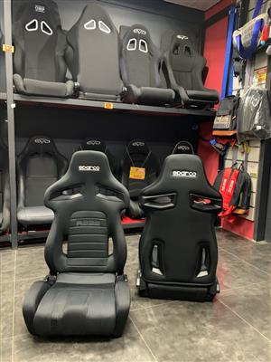 Sparco seats R333 sold as a pair. Genuine imported from Italy.