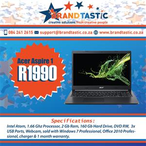 Powerful Acer Aspire 1 Notebook @ R1990