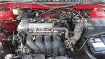Toyota runx/corolla engine