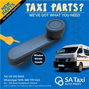 New Window Winder Handle for Nissan NV350 Impendulo - SA Taxi Auto Parts quality spares