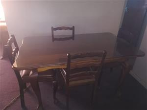 Ball & claw dining room table with Glass top