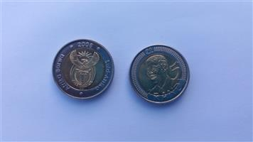 R5 coins with Mandela Face