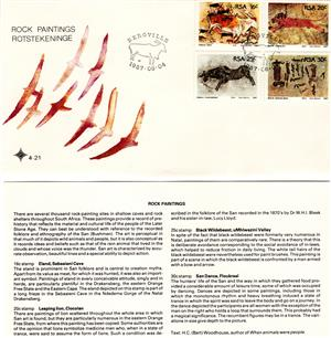 Commemorative Stamp & Envelope Set - Rock Paintings 1987