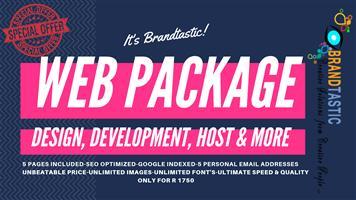 BrandTastic's Full Web Package @ R1750