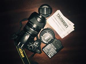 Nikon D3100 with Tamron Lens and Manfrotto Tripod