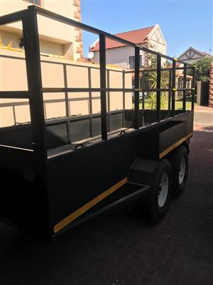2000kg industrial double axle trailer