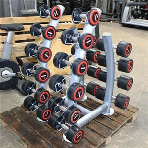 Escape Fitness 2kg-20kg Rubber Dumbbells Set & Stand – Commercial Gym Equipment