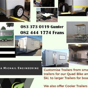 Cooler and mobile trailers for catering