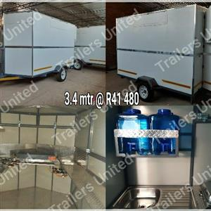 3.4 mtr mobile kitchen food trailer