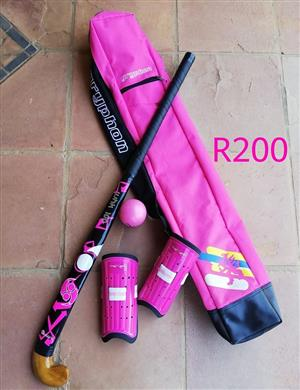 Pink girl's hockey set for sale