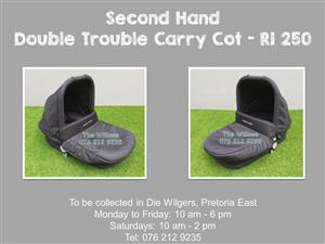 Second Hand Double Trouble Carry Cot
