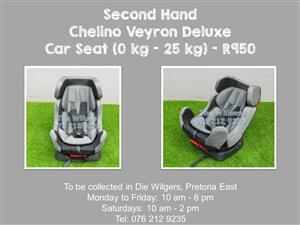 Second Hand Chelino Veyron Deluxe Car Seat (0 kg - 25 kg)