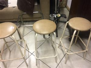 5 Steel Bar Stools