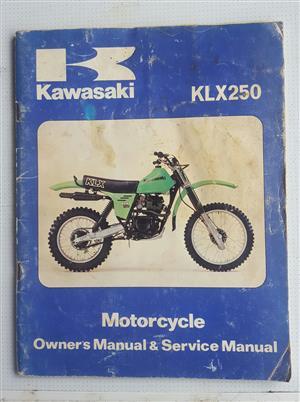 Kawasaki klx 250 manual