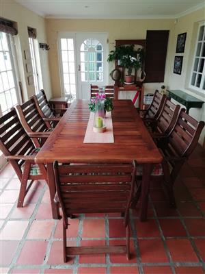 9-Piece patio set - Seligna wood