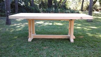8 - 10 seater rustic table