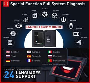 Car diagnostic machine: newest 2018 model Launch X431 V 8 i pro tablet full system diag