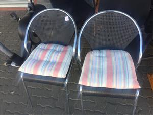 2 Chrome Armchairs