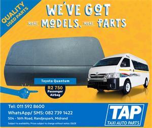 Toyota Quantum Passenger Airbag - Taxi Auto Parts quality used spares - TAP