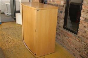 Light wooden sliding door cabinet