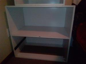 Two white shelves (chipboard)