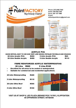 Paint for Sale direct from Manufacturer