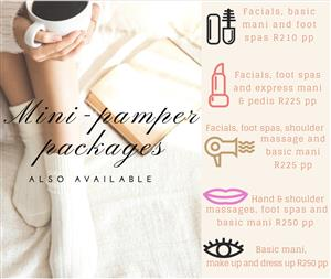 Pamper party packages