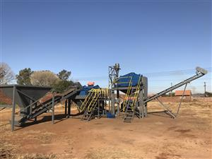 Sand process plant - sand screen and wash machines