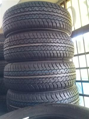 265/60/18 Dunlop grandtreck a/t 4x new tyres for bakkie or SUV.