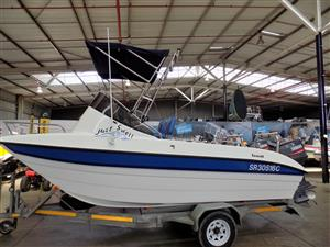 seacat 510 on trailer 2 x 70 hp yamaha trim and tilts 182/183 hours