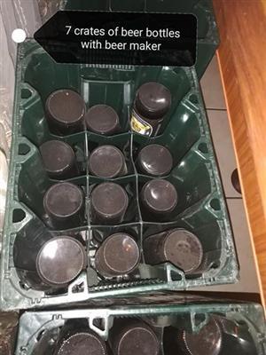 7 Crates of beer bottles