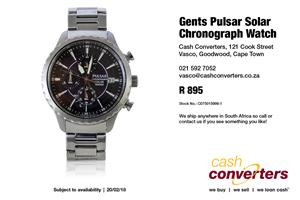 Gents Pulsar Solar Chronograph Watch