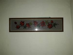 Red rose framed tapestry