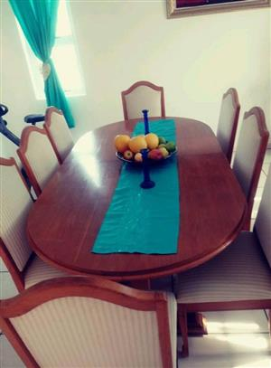 8 Seater wooden dining room suite