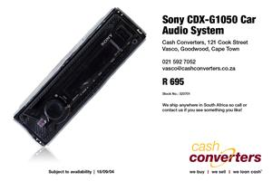 Sony CDX-G1050 Car Audio System