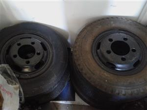 5 hole Rims and Tyres up for grabs R1000 each, (R4000 for 4 rims and tires negotiable.)