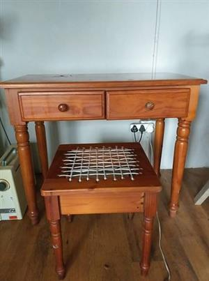 Cottage style table and chair.